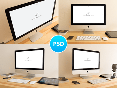 iMac Mockups free download