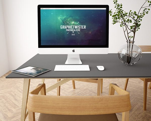 iMac and iPad Mockup download