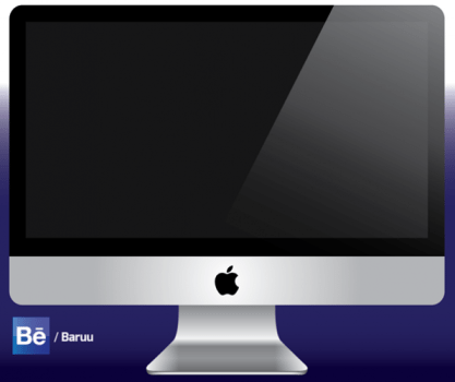 iMac vector illustration free download