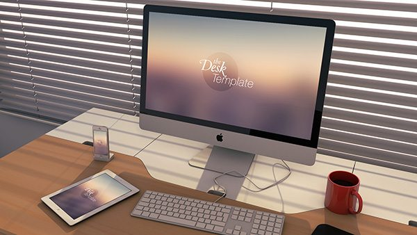 imac Workspace PSD Mockup download