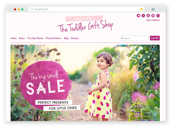 innovate kids Responsive Shopify Theme