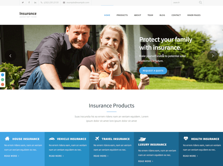 insurance agency theme