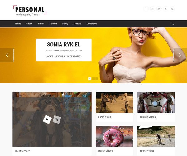 personal Video WordPress Theme