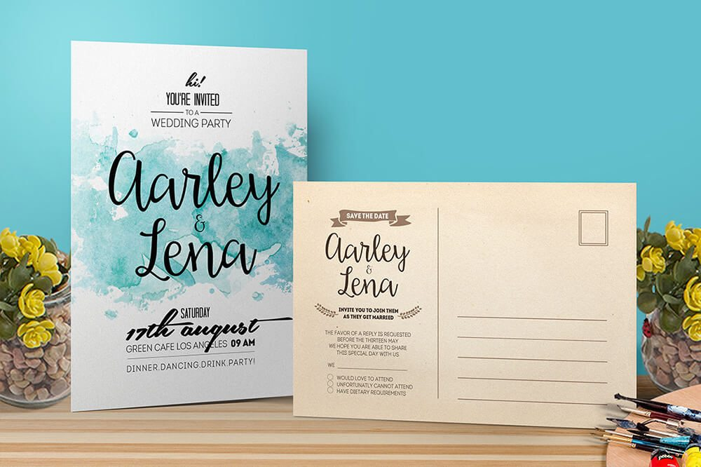 preview Wedding Invitations Examples
