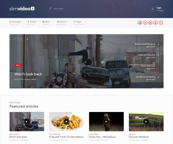 slimvideo Video WordPress Theme