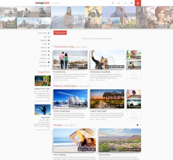 snaptube Video WordPress Theme