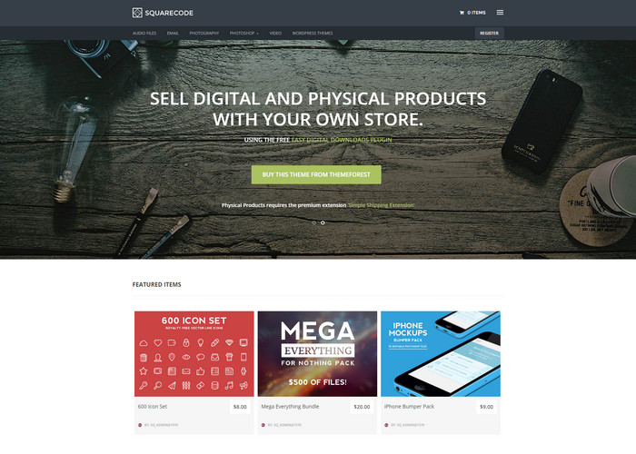 squarecode Affiliate Marketing WP Themes