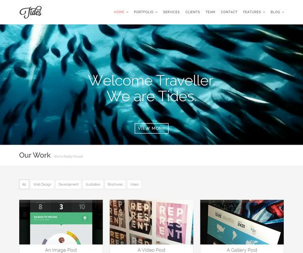 tides Video WordPress Theme