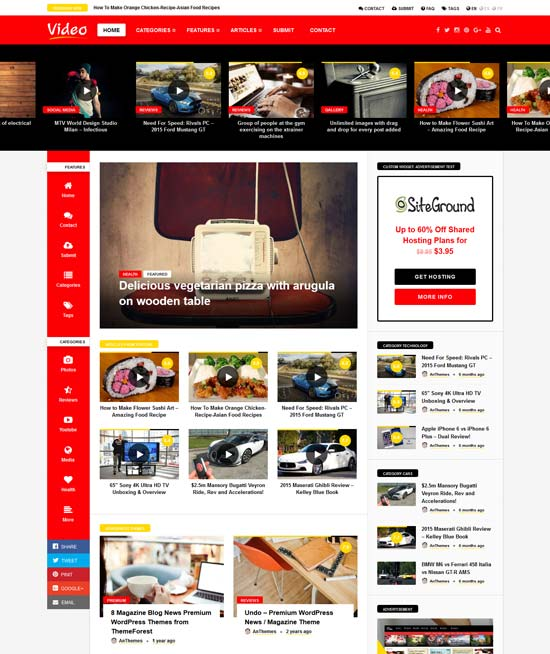 video news wordpress theme