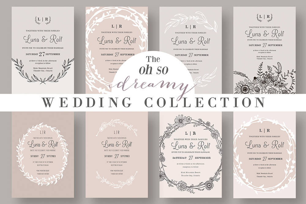 vintage wedding invitation ideas