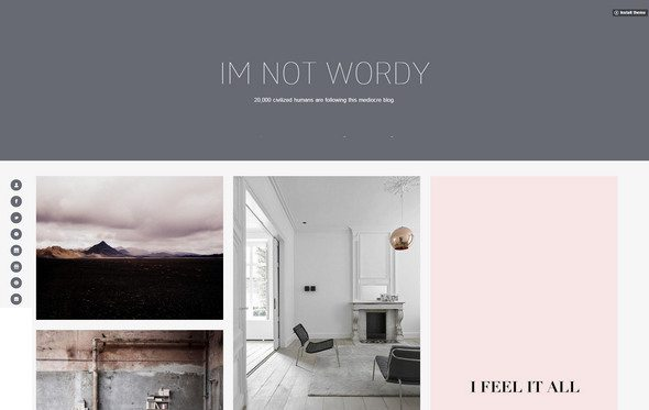 wordy tumblr themes