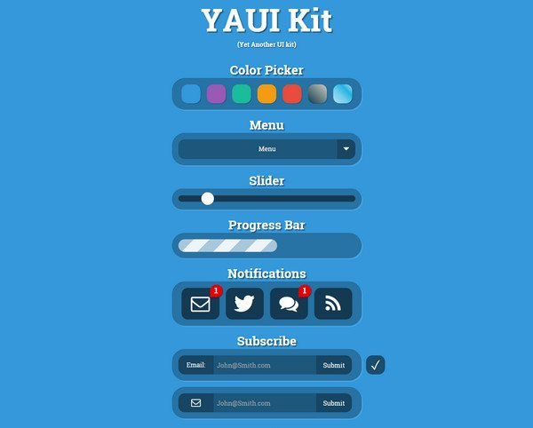 yaui HTML5 CSS3 UI Kit download