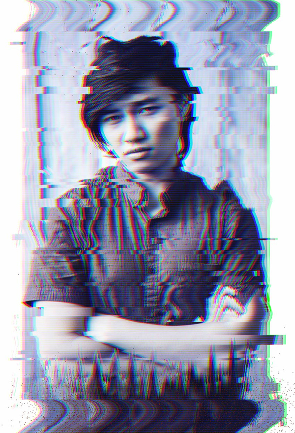 Portrait of hipster best adobe photoshop