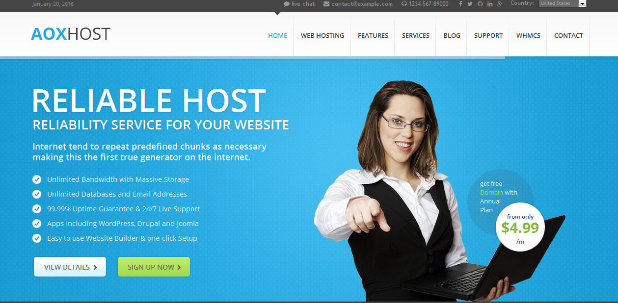 AOX c Web Hosting WordPress