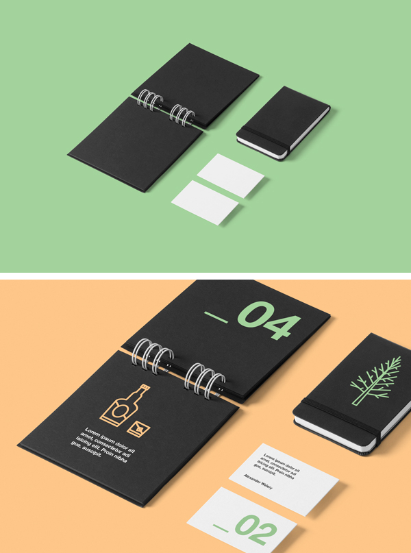 Corporate Branding Stationery Mockup