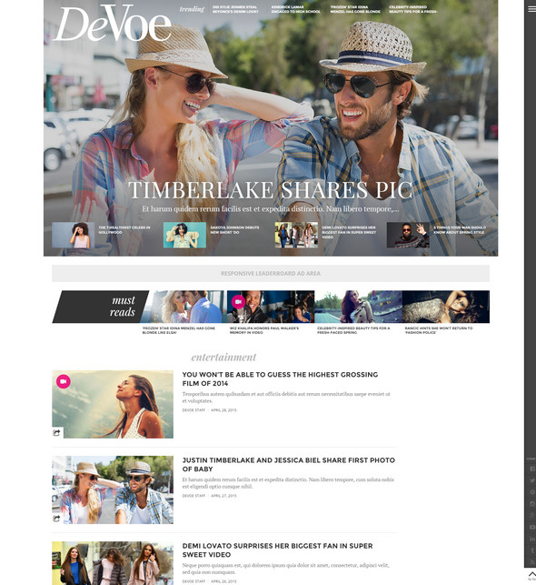 DeVoe Flat WordPress Theme