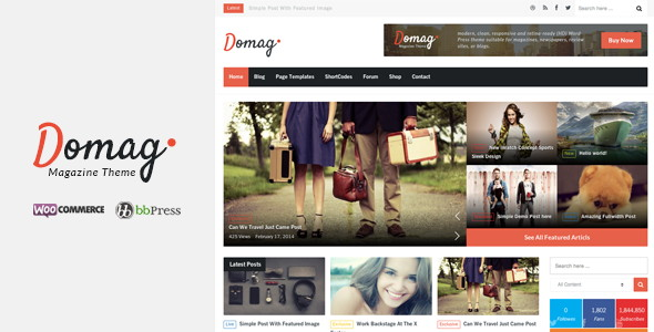 Domag Responsive Flat Design Template