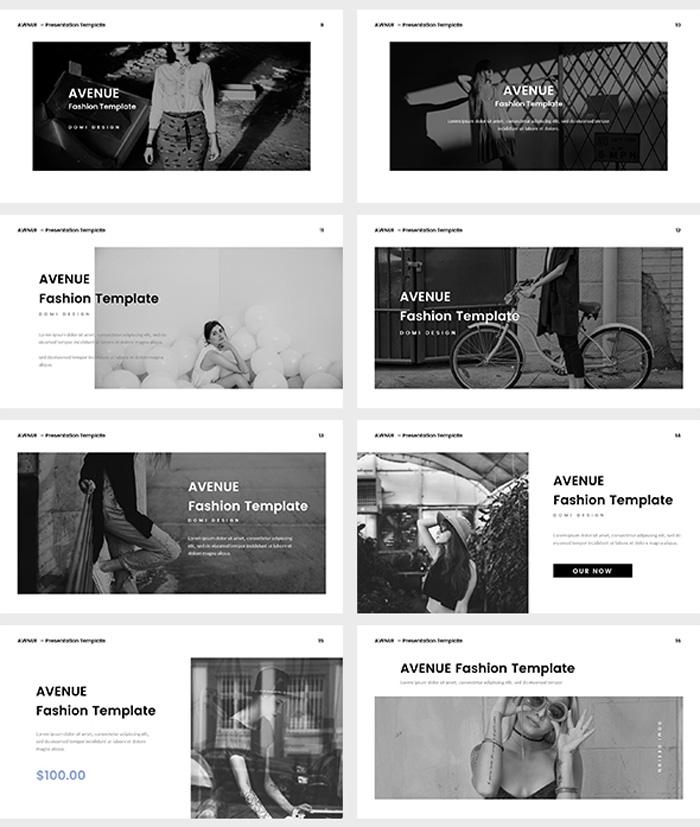 Fashion Google Slides Template