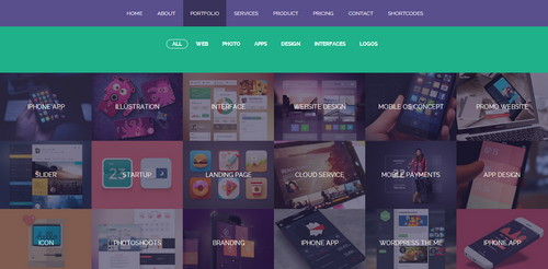 Flatty Responsive Flat Design Template