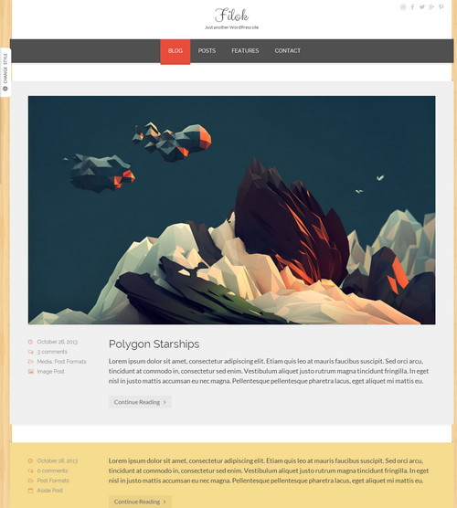 Fliok WP Theme Responsive Flat Design Template