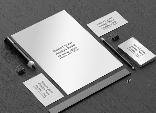 Free Black Branding Stationery