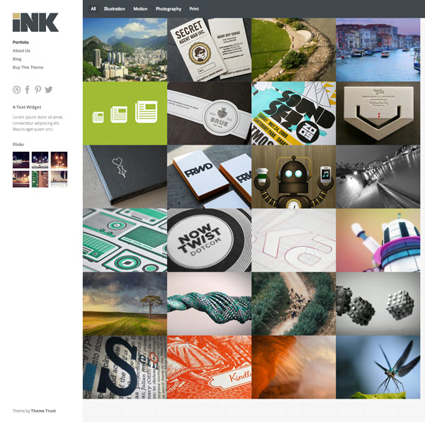 Ink Responsive Flat Design Template