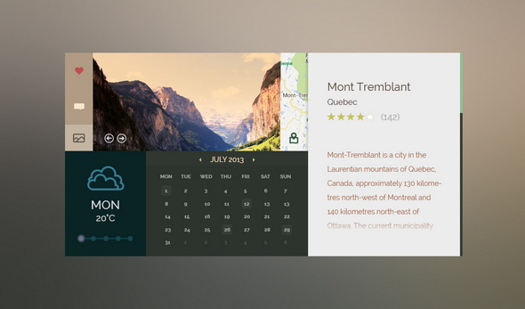 Outdoors Free Calendar Template