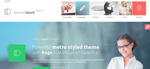 SecondTouch theme Responsive Flat Design Theme