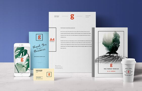 Standing Stationery Mockup
