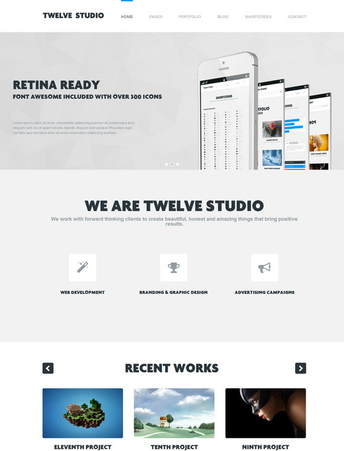 Twelve Studio Responsive Flat Design Theme