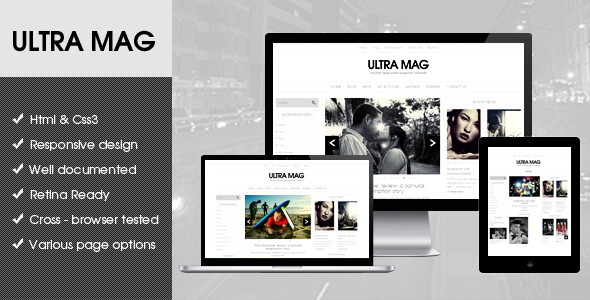 Ultra Mag Responsive Flat Design Template