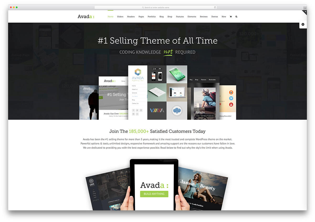 avada WordPress Business Theme Admin templete
