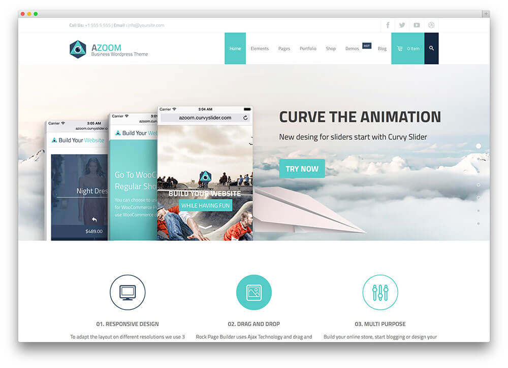 azoom WordPress Business Theme Admin templete
