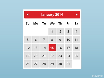 calendar Templates in PSD