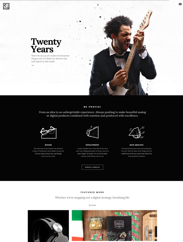 credenza theme Responsive Flat Design Template