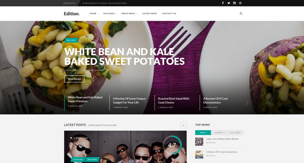 edition Responsive Flat Design Template