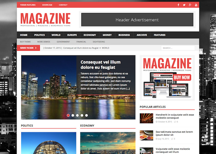 mh magazine pro Responsive Flat Design Template