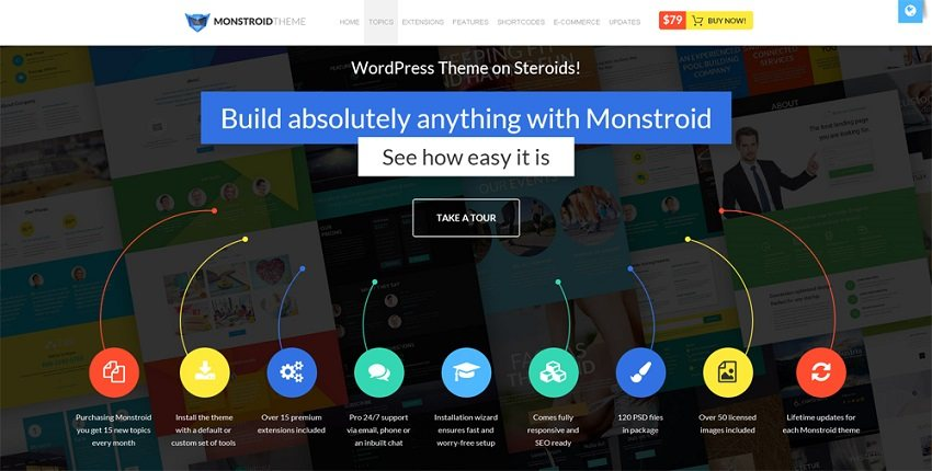 monstroid 65+ Best Responsive