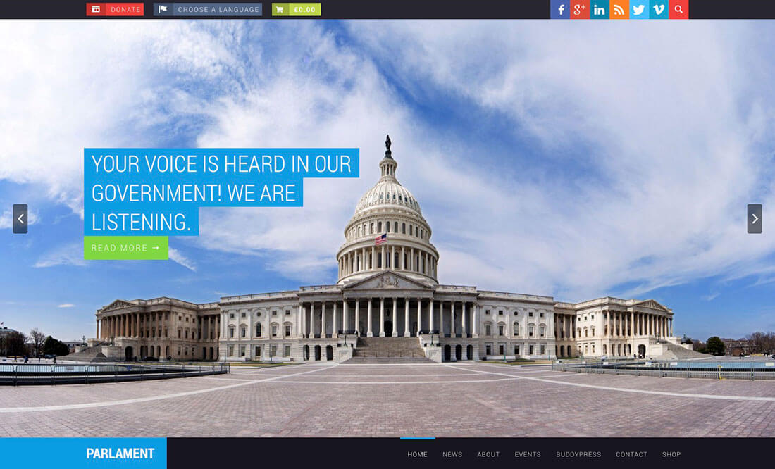 political Best Responsive WordPress