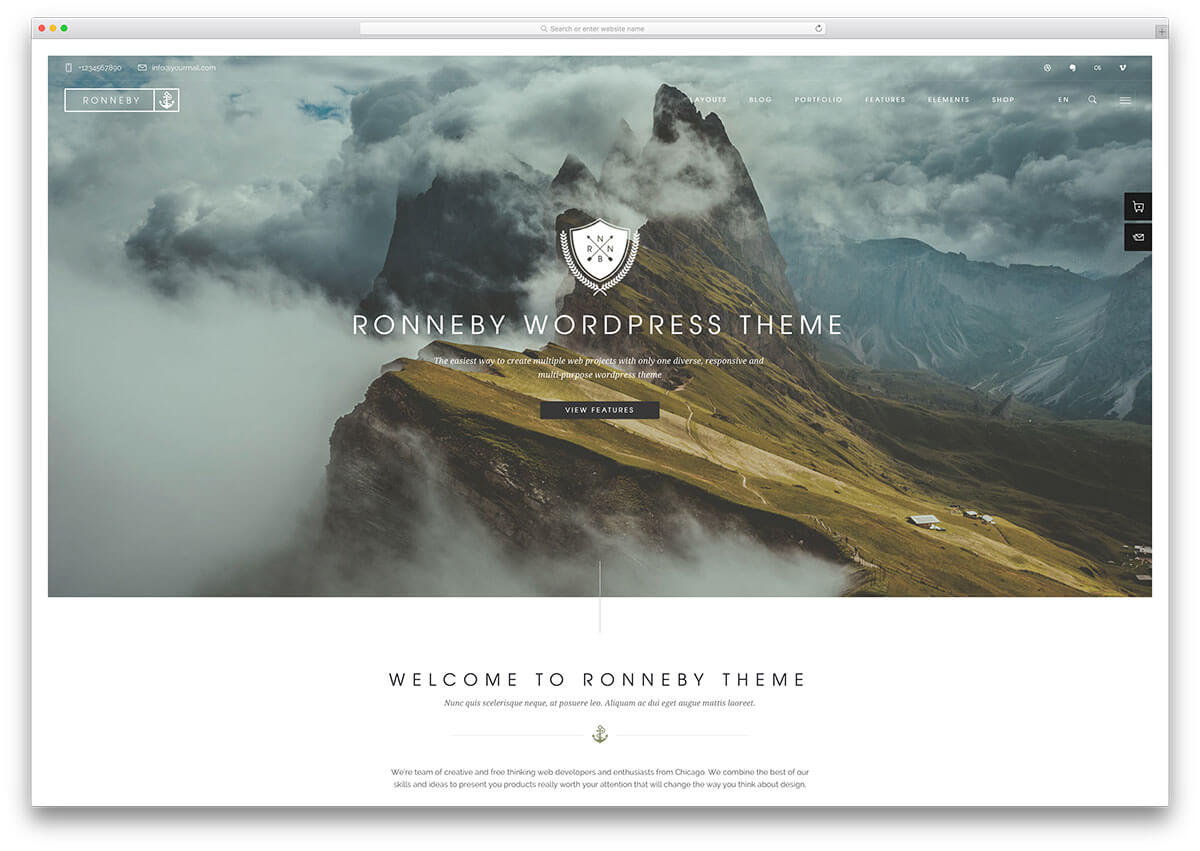 ronneby Responsive WordPress Business Theme