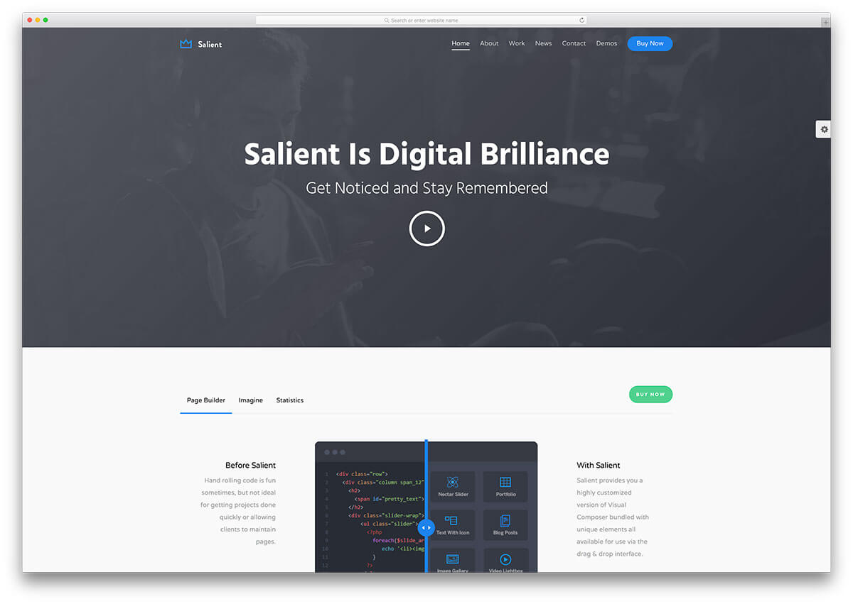 salient tech Responsive WordPress Business Theme
