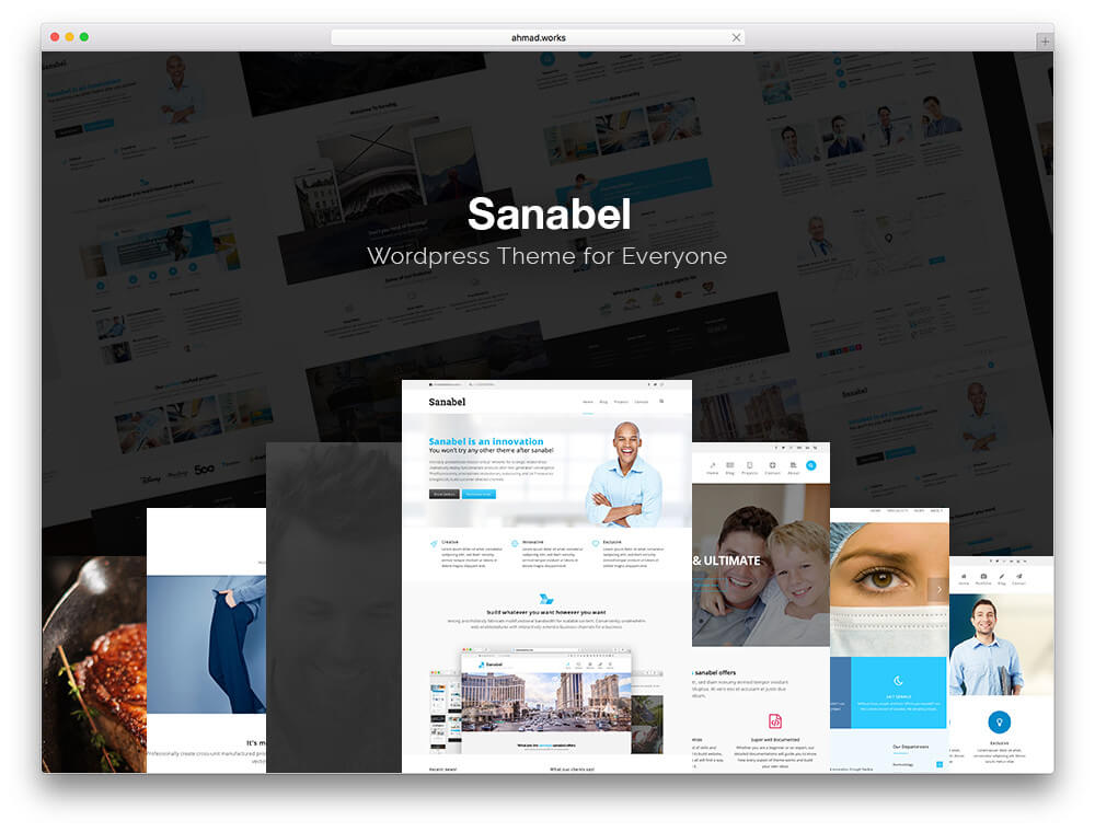 sanabel Responsive WordPress Business Theme