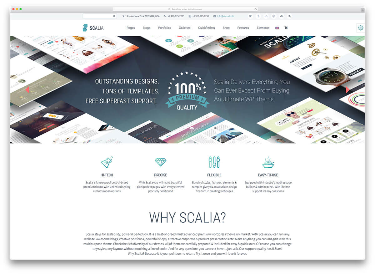 scalia Responsive WordPress Business Theme