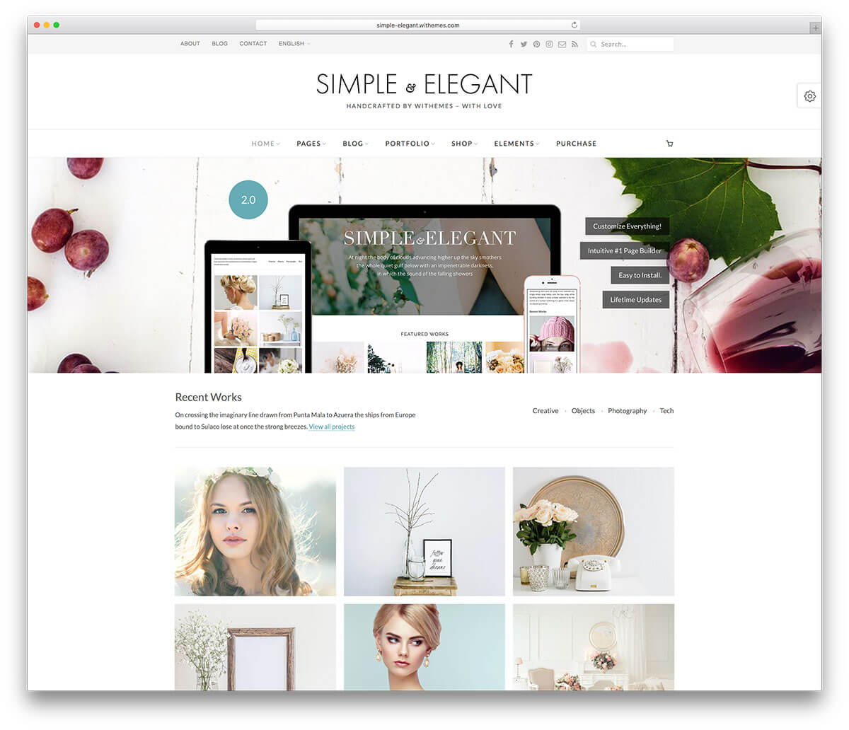 simple Responsive WordPress Business Theme