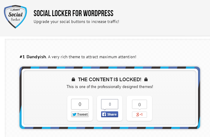 social locker for wordpress plugins