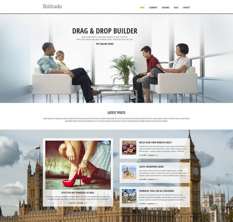 solitudo Responsive WordPress Business Theme