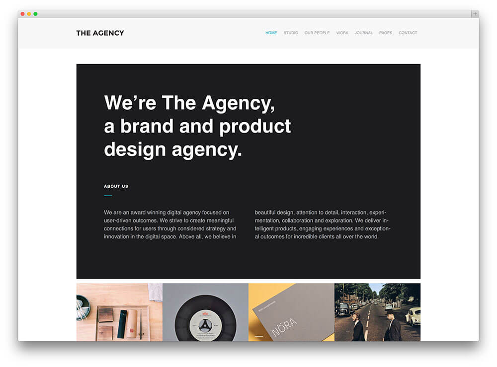 the agency Best Responsive WordPress