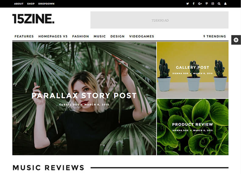 15Zine HD Best Responsive Magazine WordPress Theme