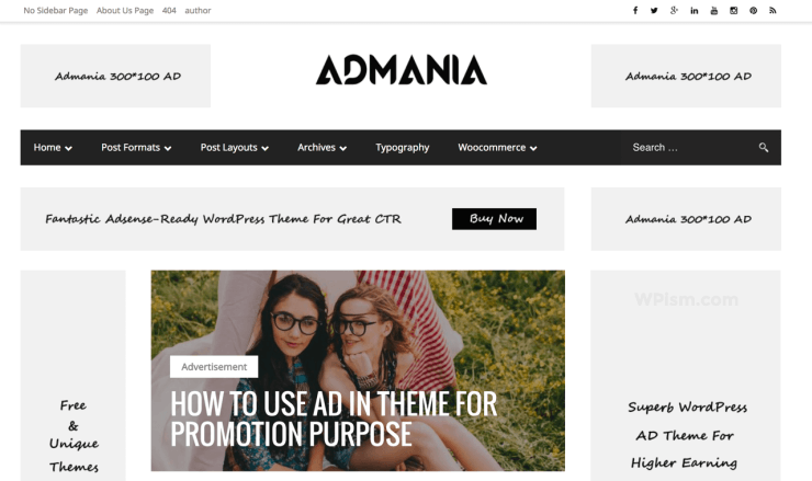 Admania Friendly WordPress Theme