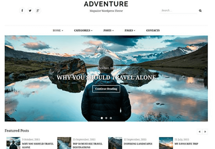Adventure Review WordPress